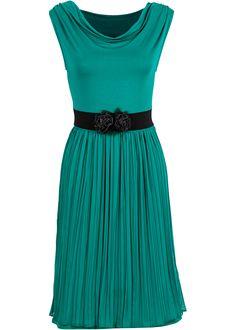 Klänning, BODYFLIRT, smaragdgrön