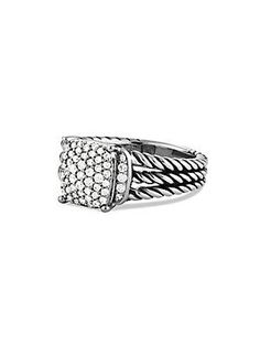 3a06460253f5 David Yurman Petite Wheaton Ring with Diamonds