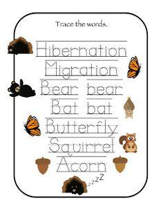 Preschool Printables: Hibernation & Migration Printable Preschool Books, Preschool Themes, Preschool Printables, Preschool Lessons, Preschool Classroom, Classroom Activities, Preschool Activities, Classroom Ideas, Forest Classroom