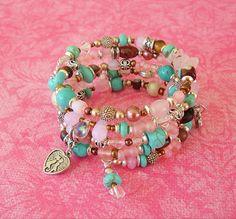 Boho Bracelet, Turquoise Jewelry, Southwest Jewelry, Bohemian, Cowgirl, Stacked Bracelet