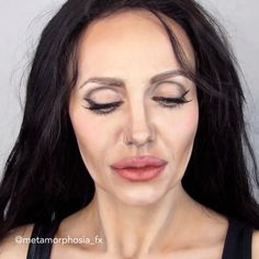 Imagine how talented you have to be, to transform yourself into Angelina Jolie Ways to be the Queen of Unicorn Makeup Beauty Make-up, Beauty Hacks, Hair Beauty, Angelina Jolie Makeup, Angelina Jolie Maleficent, Creepy Halloween Makeup, Eye Makeup, Hair Makeup, Brunette Makeup