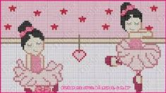 Image result for para fazer ...arte/bailarinas em ponto cruz Cross Stitching, Cross Stitch Embroidery, Cross Stitch For Kids, Charts And Graphs, Rugrats, Cross Stitch Designs, Needlepoint, Christmas Stockings, Arts And Crafts