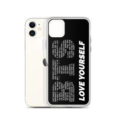 BTS Inspired Love Yourself Premium Korean iPhone Case Iphone 7 Plus, Iphone 11, Iphone Cases, Korean Phone Cases, K Pop Music, Pop Bands, Just Dance, Love You, Bts