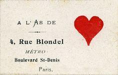 Calling cards of Parisian Prostitutes (1925-35)