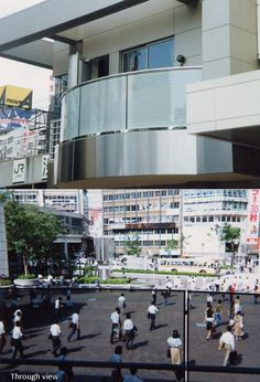 This balcony in Japan used Contra Vision® to provide privacy without compromising the view.