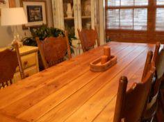 Farm House Table by grandaddyswoodmill on Etsy, $800.00