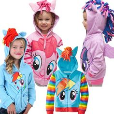 My Little Pony Little Girls Ombre Jacket 6X, Violet Stars