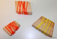 Tippytoe Crafts: Yarn Block Stamping