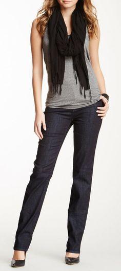 DKNY Jeans Soho Straight Leg Jean with Bling Back Pocket