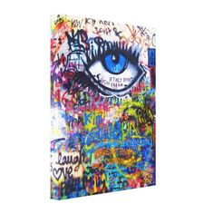 Shop Blue graffiti evil eye canvas print created by street_artz. Personalize it with photos & text or purchase as is! Graffiti Painting, Graffiti Art, Evil Eye Art, Urban Graffiti, Van Gogh Paintings, Custom Canvas, Fabric Paper, Viera, Urban Art