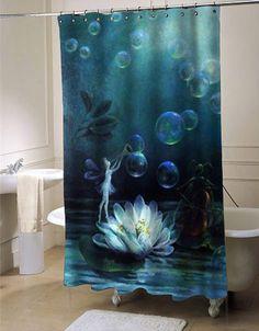 Attractive Fairy Shower Curtain Customized Design For Home Decor #showercurtain  #showercurtains #shower #curtain