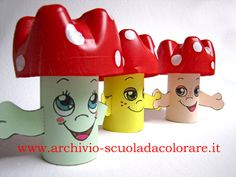 pecurki 5 Min Crafts, Craft Stick Crafts, Diy And Crafts, Crafts For Kids, Arts And Crafts, Preschool Colors, Preschool Art, Recycled Bottles, Recycled Crafts