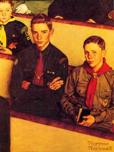 """A scout is reverent""  Norman Rockwell, 1954."