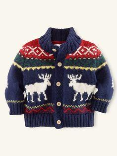 Mockneck Reindeer Sweater - Tops & Bottoms  Layette Girl (Newborn-9M) - RalphLauren.com