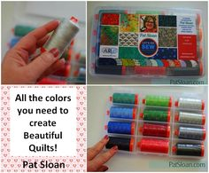 We're kicking off our Spring #ModaMondays with Pat A Sloan! Pat Sloan's latest collection with Moda Fabrics United Notions is #SundayDrive,The coordinating Aurifil thread collection shares a title with Pat's motto, Let's Go Sew! It is a terrific range of colors in 50wt that complement her fabrics perfectly, but would also make a terrific stash building box.  https://auribuzz.wordpress.com/2017/04/03/moda-mondays-pat-sloan-lets-go-sew/