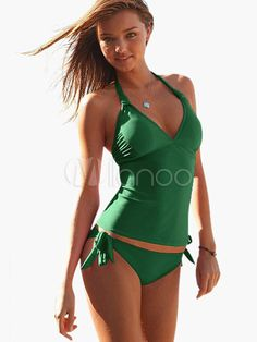 Sexy V-Neck Halter Tankini Swimsuit 435939b0bc588