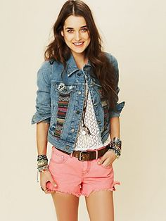 Free People Baha Denim Jacket. But could be a great DIY w/ an old jean jacket at home...