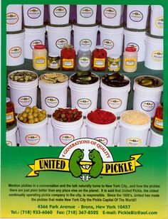 I found out where Ted's Montana gets their half sour 'almost pickles ' --United Pickle-- Is it sad that i want to order 1.5 gallon pail?