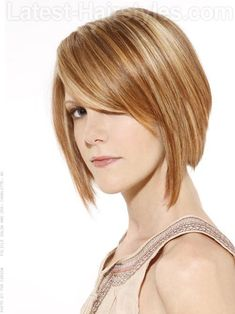 Triangular Bob with Highlights Side View