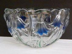 "Fine German Crystal Glassware Mikasa Bluebells Crystal Bowl 8"", Germany #Mikasa"
