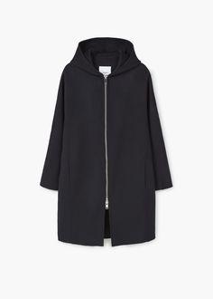 Oversize wool coat   MANGO