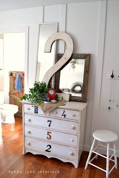 Love the numbers, and the gate, and. . .just everything from Funky Junk Interiors!