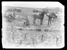 Family on homestead in Custer County, Nebraska.