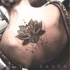 Tatuaggio fiore di loto mandala, fiore, tattoo by edwin basha