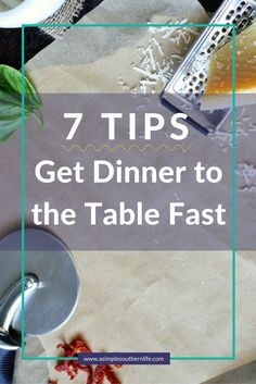 How to make dinner easy [even when you are too exhausted]. Dinner doesn't have to be from the nearest fast food restaurant. These 7 tips will help you get dinner to the table fast. Click to read the rest of the post.