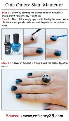 Ombre Stain Manicure