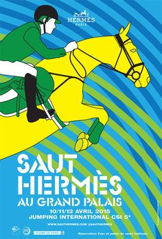On its sixth year, Hermes will be taking the equestrian event, Saut Hermes at the Grand Palais in Paris. Hermes has always been associated with horses, as Malika Fabre, Illustrations, Illustration Art, Horse Posters, Keys Art, Jenner Sisters, Hermes Paris, Grand Palais, Paris Shows