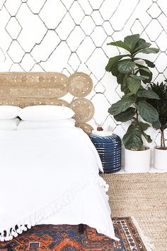 Find creative headboard ideas to DIY at home on domino. Learn how to make a DIY headboard with ideas from domino. Headboard Alternative, Home Addition Plans, Headboard Designs, Headboard Ideas, Diy Headboards, Decorating On A Budget, My New Room, Home Decor Inspiration, Bedroom Decor