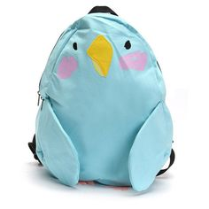 Multi Color Preppy Style Parrot Backpack Cute Cartoon Outdoor School... ($26) ❤ liked on Polyvore featuring bags, backpacks, zipper bag, print comic book, multi color backpack, patterned backpacks and preppy backpacks