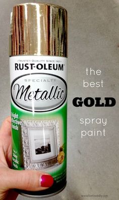 my go-to gold spray paint is Rustoleum Metallic Gold. I'm using it on several projects as we speak, and I can't wait to show ya. It's gorgeous, dahhhling. If you're looking for my fave silver spray paint, see here.