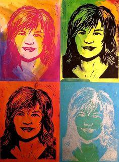 Pop Art Self-Portrait Warhol Printmaking Lesson