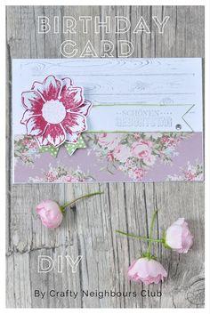 Eine Blüten-Geburtstagskarte DIY