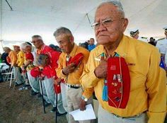 """Navajo Code Talkers - HEROS of WWII! It was these Navajo men who played a HUGE role in helping the USA win WWII. The Japanese could never break the """"code"""" of the Navajo language. Nagasaki, Hiroshima, Native American History, American Indians, Marine Corps, Code Talker, Bravest Warriors, Iwo Jima, Before Us"""