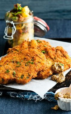 Low FODMAP and Gluten Free Recipes - Chicken schnitzel with maple ...