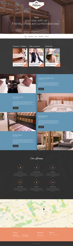 Small Boutique Hostel #website #template. #themes #business #responsive #websitethemes