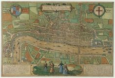 Map of Tudor London 1574