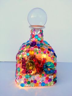 Decorative Love Bottle Lamp by BlingyRicci on Etsy, $25.00
