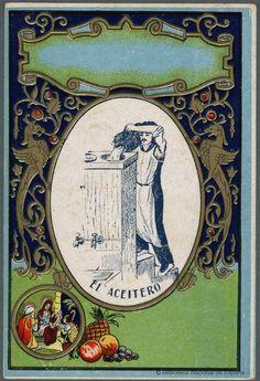 [Felicitaciones de Navidad de oficios.. Grabado — 1880-1940 Spanish Posters, Vintage Ads, Christmas Cards, Advertising, Patterns, Retro Advertising, Old Advertisements, Vintage Posters, Antique Christmas