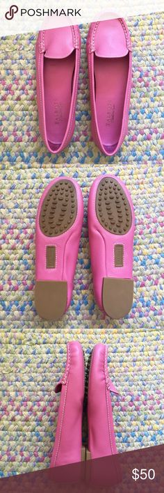 NWOT Talbots leather loafers NWOT Talbots pink leather loafers, never worn only tried on. Size 7.5 leather upper. OFFERS WELCOME Talbots Shoes Flats & Loafers