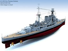 The HMS Hood launched in 1918 was the last battlecruiser built for the Royal Navy; she was the only one built from several units that had been planned.