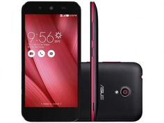 "Smartphone Asus Live 16GB Preto e Rosa Dual Chip - 3G Câm. 8MP Tela 5"" Proc. Quad Core Android 5.0"