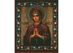 Стразы «Пресвятая Богородица «Умягчение злых сердец»  Иконы, иконы бисером, иконы стразами - Zvetnoe.ru - раскраски по номерам, алмазная вышивка, вышивка бисером, вышивка крестом