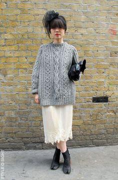 (via Streetstyle | Cozy Cables [London, Paris] | Stylesight)