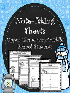 {FREE} Note-Taking Sheets for Nonfiction Text Grades 5-7