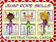 Long Jump Rope Station Cards: Perfect for Jump Rope for Heart ...