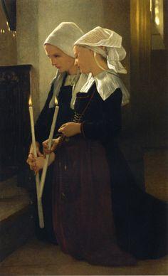 Artist: William-Adolphe Bouguereau Work: Prayer at Sainte Anne d'Aury Date: 1869 Medium: Oil on Canvas